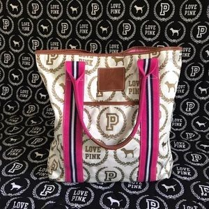PINK Victoria's Secret Monogram Tote Bag